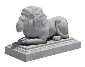 3D model Reclined Lion Statue