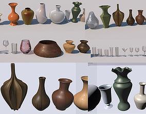 3D asset Vase Glass Pots collection