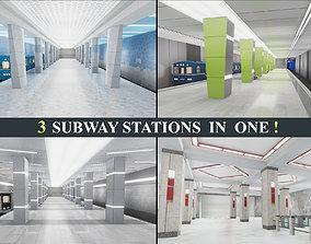 3D model Subway Stations Pack Vol 1