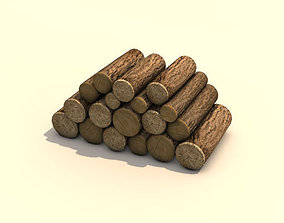 3D Firewood Log Pile