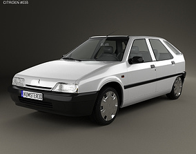 Citroen ZX 5-door hatchback 1991 3D model