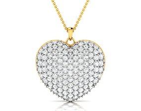Women heart pendant 3dm render detail diamond