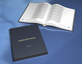 Hardcover Book with Editable Text 3D model