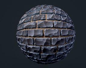 3D model Stylized Brick Wall Seamless PBR Texture