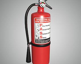 fireman fire extinguisher 3D asset realtime