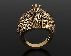 jewellery watermelon diamond ring 3D print model