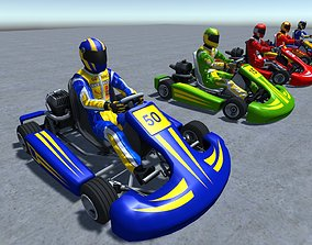 5 Low Poly Karts With Player Pack - 1 3D asset