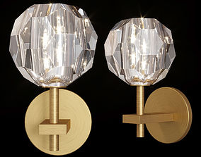 3D Restoration Hardware BOULE DE CRISTAL SINGLE SCONCE