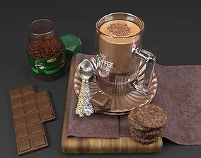 Decorative Coffee Set 3D
