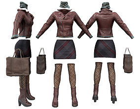 Urban Voyager Fashion Outfit 3D asset game-ready