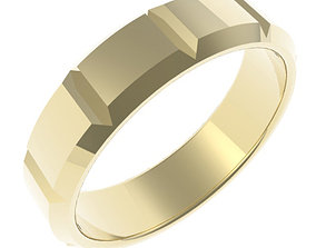 Gents 6mm Wide Bevel Edge Ring 3D print model