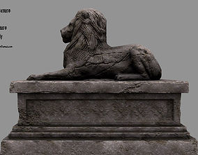 Lion Statue 17 3D asset