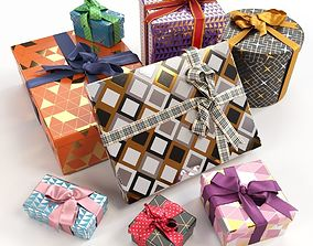 3D Gift boxes with bows part 3