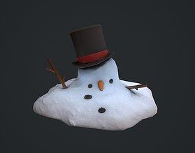 Melted Snowman 3D model
