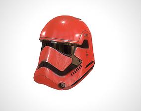 3D model Star Wars Stormtrooper Helmet - Red Steel
