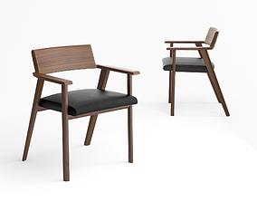 Bassam Fellows Wedge side chair 3D