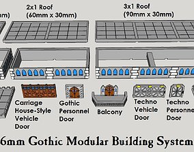 3D print model 6mm or 8mm Modular Gothic Building