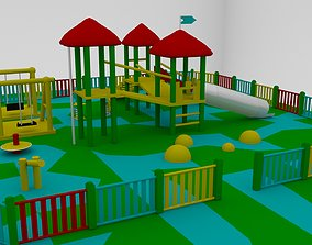 Simple Children Playground 01 3D model