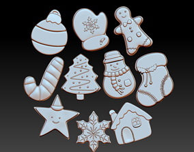 Christmas Cookies For Decor dessert 3D print model