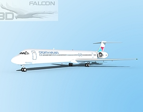 rigged Falcon3D MD-80 Croatia Airlines