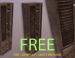 game Rustic Wardrobe - Unity Ready 3D asset