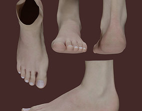 3D model game-ready Woman Foot
