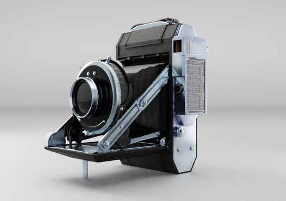 Vintage camera 3D moel and render