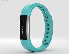 wristband 3D model Fitbit Alta Teal-Silver