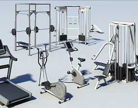 Gym equipment 3D model unix2