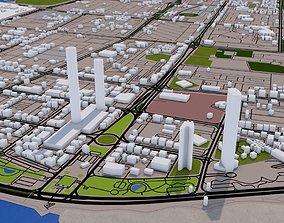Abu Dhabi City UAE with Airport 3D model