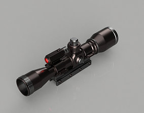 rifle scope 3d model for printing rifle scope