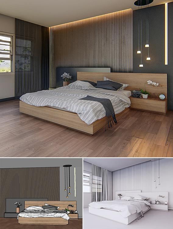 Bedroom 09 - 3dnikmodels