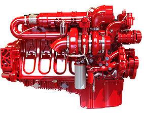Heavy-Duty Truck Engine mechanical 3D