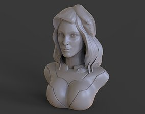 Steampunk Girl Bust 3D printable model
