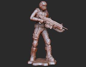 COG Soldier Female Summer Gears of War 3D Model STL 3D