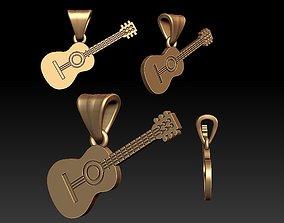 3D print model Guitar pendant melody