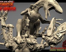Dakotaraptor against liberator 3D printable model