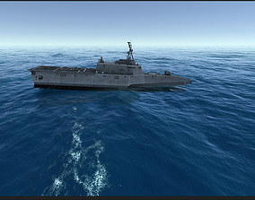 Combat ship LCS-2 3D asset