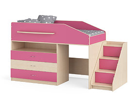 Legenda K12 with LY02 childrens modular bed 3D