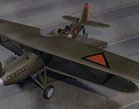 Fokker CX - Dutch 3D model military