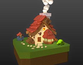 3D model apartment Cartoon house