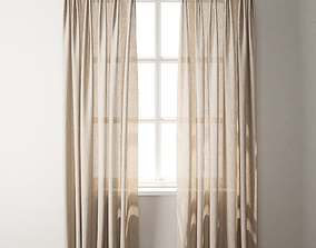 Curtain 3D model curtain