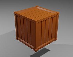 Square wooden box model