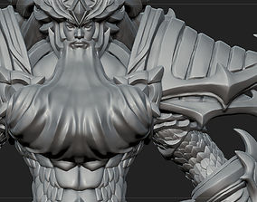 3D model RPG Character Creature Poseidon