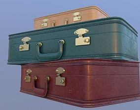 retro suitcases 3d model low-poly