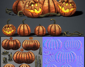 3D asset game-ready Pumpkins Low