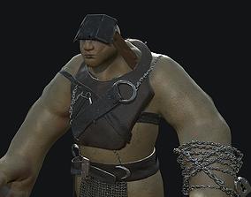 3D Orc Model low-poly