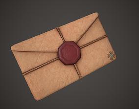 3D model Envelope Old Letter