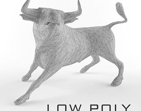 3D model Low Poly Bull Taurus Animal Lowpoly 2