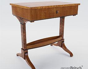 3D model Biedermeier sewing table Munich - Germany 1820 2